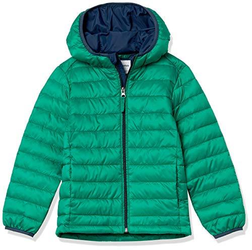 Amazon Essentials Light-Weight Water-Resistant Packable Hooded Puffer Jackets Coats Jacke, Grün, 3 Jahre