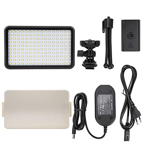 WYLZLIY-Home Videocámara regulable luz de vídeo LED de luz de vídeo 3200-6000K regulable LED luces de relleno de fotografía conjunto de lámpara para vídeo de tiro