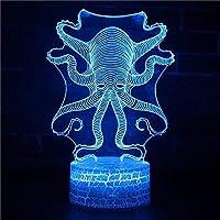 漫画主導ランプ3Dイリュージョンタッチナイトライトベッドサイド装飾ランプ子供部屋ルームランプ漫画7色光学ライト子供部屋ベッドサイドランプ用