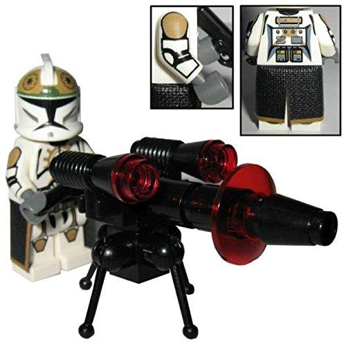 Custom Brick Design 87th Star Corps Legion Gunner Clone Trooper Figur - modifizierte Minifigur des bekannten Klemmbausteinherstellers und somit voll kompatibel zu Lego