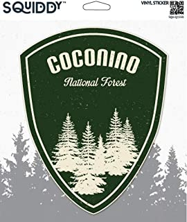 Squiddy Coconino National Forest Hiking Camping - Vinyl Sticker - Large Size (11