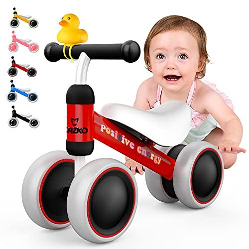 CRZKO Bicicletta Senza Pedali, Bicicletta per Bambini 10-24 Mesi, Bicicletta per Ragazzi e Ragazze Prima Bici Regalo