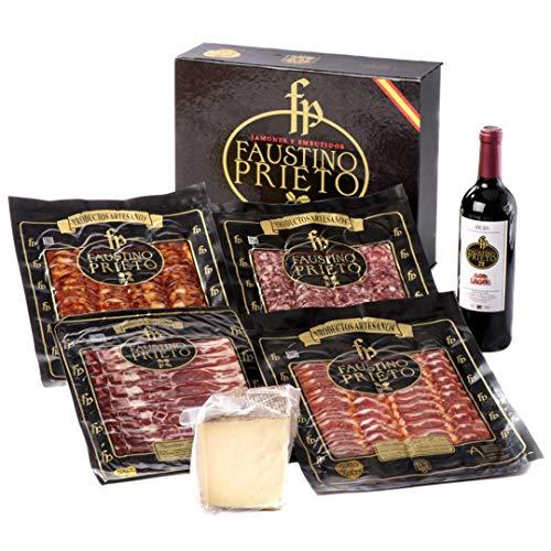 Lote curiosidad: Degustación de loncheados ibéricos de bellota acompañado de queso y vino.Salamanca. Faustino prieto.