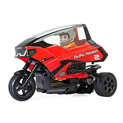 TAMIYA 57407 57407-1:8 Dual Rider Trike T3-01, ferngesteuertes Auto/Fahrzeug, Modellbau, Bausatz, unlackiert