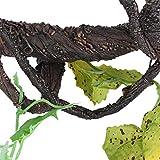 Fdit Vides de Reptil, Escalador Artificial, Selva, Bosque, Curva, hábitat para Mascotas, decoración para lagartos, Ranas, Serpientes(WF-1)