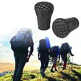 Pack de 6 puntas de poste de trekking de goma - El protector de la punta del poste de repuesto se adapta a la mayoría de los bastones estándar de senderismo con: amortiguación de impactos, agrega agar