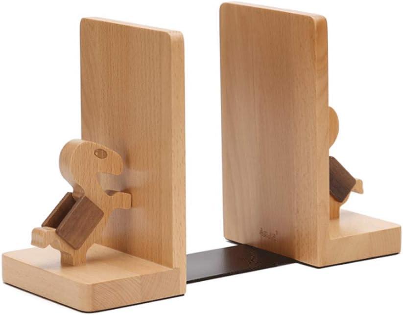 Daily bargain sale Max 52% OFF Bookends Decorative Wooden Bookshelf Book Folder Suppo