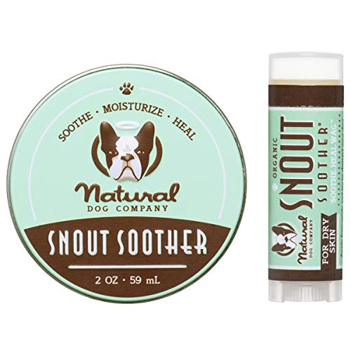 Natural Dog Company Snout Soother Bundle, Includes 2oz Tin + 0.15oz Stick, Dog Nose Balm for Chapped, Crusty and Dry Dog Noses, Organic, All Natural Ingredients, Packaging May Vary