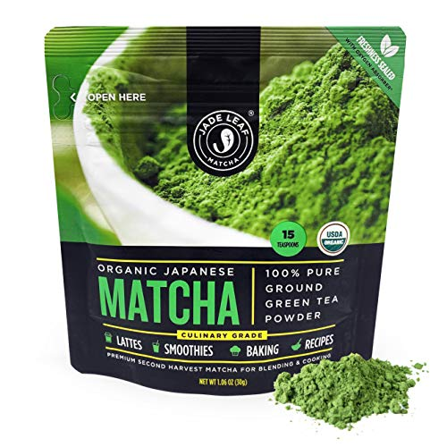 Jade Leaf Organic Matcha Green Tea Powder - Authentic Japanese Origin - Culinary Grade - Premium 2nd Harvest [1 oz]