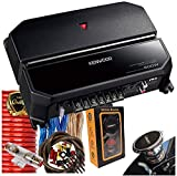 Kenwood 500W 2 Channels Performance Standard Series Stereo Power Car Amplifier with 4 Gauge Red Amplifer Kit and Gravity Magnet Phone Holder Bundle
