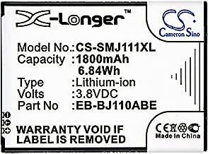 Cameron Sino 1800mAh Li-ion High-Capacity Replacement Batteries for Samsung Galaxy J1 Ace 3G Duos, Galaxy J1 Ace Dual SIM 3G, Galaxy J1 Ace, SM-J110, fits Samsung EB-BJ110ABE