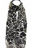 Nuevo leopardo guepardo impresión brillante Pashmina bufanda bufandas abrigo chal estola (Beige)