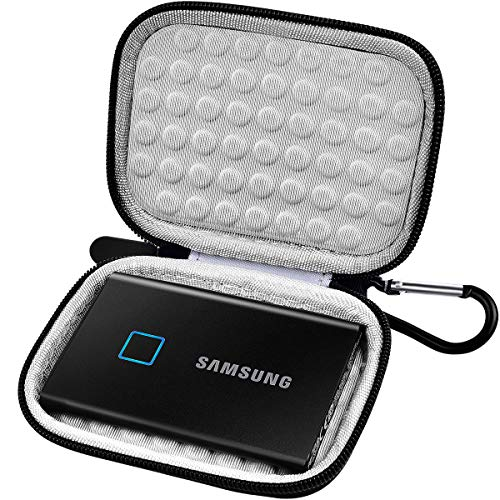 Case Compatible with Samsung T7/ T7 Touch Portable SSD 500GB 1TB 2TB, Protective Travel Carrying Storage Cover for USB 3.2 External Solid State Drive (Bag Only)