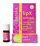 Baraka LipX Survival Outbreak - Fast Acting Organic All Natural Lip Blister Remedy and Fever Blister Relief for Cold Sore Outbreaks with Essential Oils