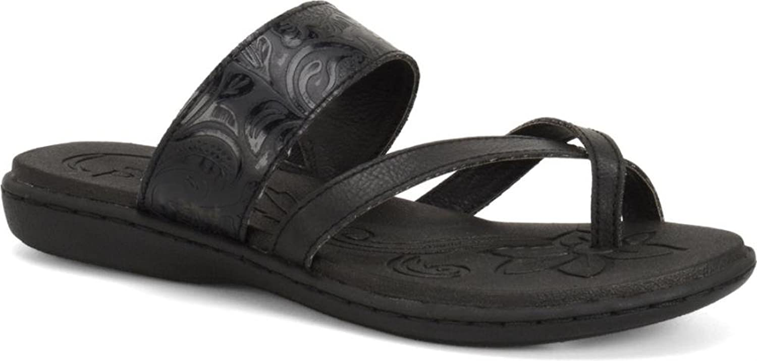 B.O.C. Women's, Bellisi Sandal Black Tooled 10 M