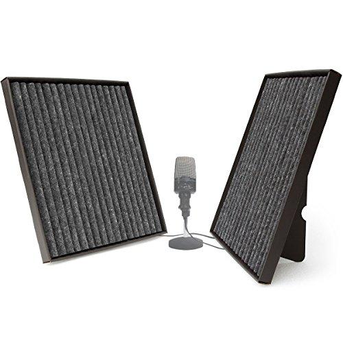 Soundwave Squares | pannelli fonoassorbenti in resistenti cornici di cartoncino per ridurre l'eco e migliorare la qualità del suono | Autoportanti o appendibili a parete | 2 pannelli 60 cm x 60 cm (Elettronica)
