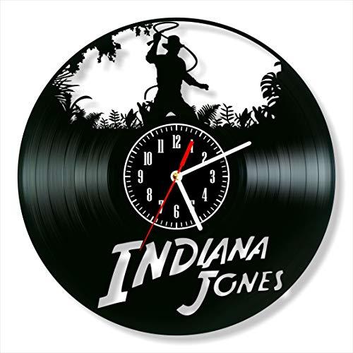 Indiana Jones Clock Vinyl Clock, Indiana Jones Wall Clock 12', Art Unique Original Decor, The Best Home Decorations