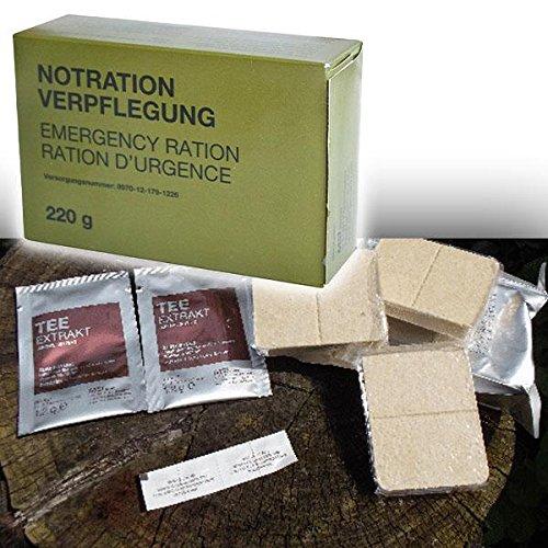 Copytec Bundeswehr Notration Verpflegung EPA BW Bund Survival Nahrung Essen Notfall Packung US Army Lebensmittel Überlebensration Outdoor Trekking Tee Überleben BP-5 Notration #15803