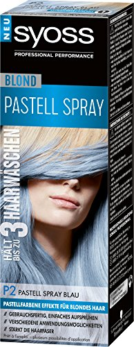 Syoss Blond Pastell Spray P2 Blau Stufe 1, 3er Pack (3 x 125 ml)