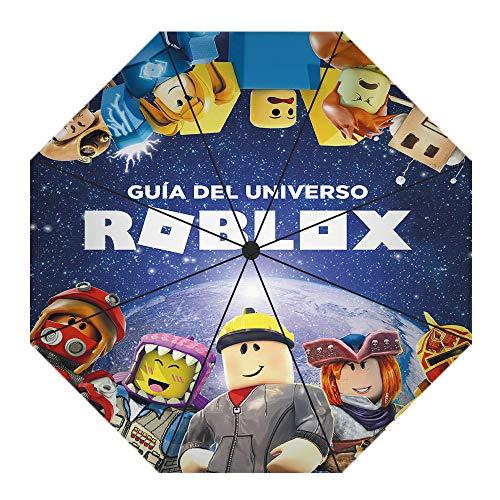 HJkjlmlFG Roblox Plegable a Prueba de Viento de Viajes invertido Paraguas, inversa...