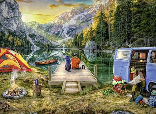 Ravensburger 82057 Great Outdoors Puzzle Series: Calm Campsite:   300 PC Puzzles for Adults – Every Piece is Unique, Softclick Technology Means Pieces Fit Together