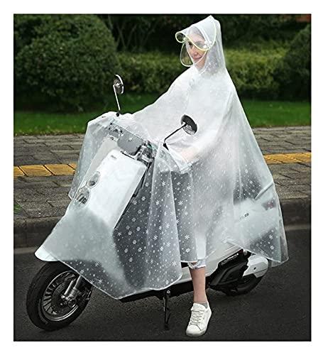 Chaqueta impermeable y traje de pantalón Impermeable lluvia de lluvia Motorbike Cape Cape Coat, EVA Transparente impermeable impermeable con capucha con una sola ropa de lluvia lluvia de poncho para a