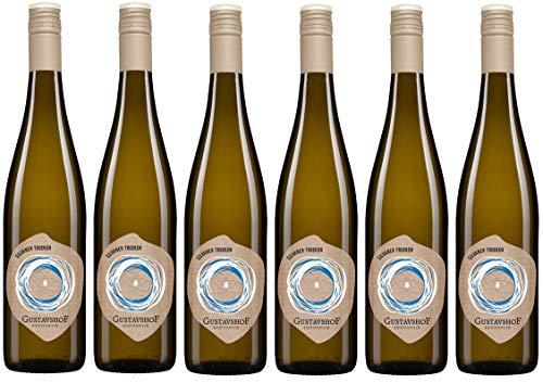 Weingut Gustavshof: 6 Flaschen Silvaner 2018 trocken mit einem Hauch von Birne und Aprikose. Bio-Wein, Demeter zertifiziert