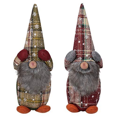 TOYANDONA Weihnachten Deko, Schwedischen Weihnachtsmann Santa Tomte Gnom Hängende Plüsch Santa Bart Ornamente für Weihnachtsbaum Kamin Home Decor - 2 Pcs