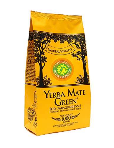 Yerba Mate Green 'Nativa Tropicales' Brasilianischer Mate-Tee 1000g   Exotischer Mate Tee   mit Orangenschale, Acerola, Pomelo und Limette