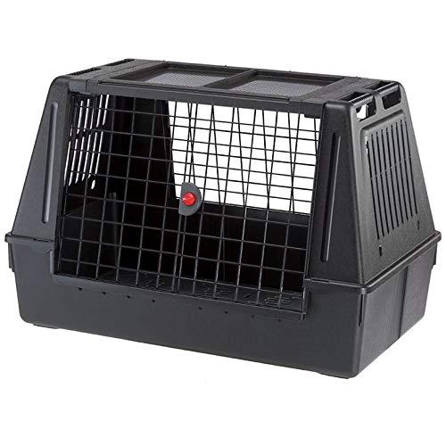 Ferplast Atlas Fahrzeug SUV Hundekäfig, montierte Autohundebox, Maße 39 L x 23 B x 26 H, ideal für mittelgroße bis mittelgroße Hunderassen, schwarz