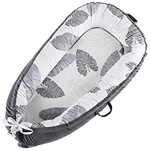 Baby Lounger Nest Co-Sleeping Infant Bassinet Mattress for Bed Newborn Lounger 100% Soft Cotton Breathable Portable Crib Perfect for Traveling and Napping