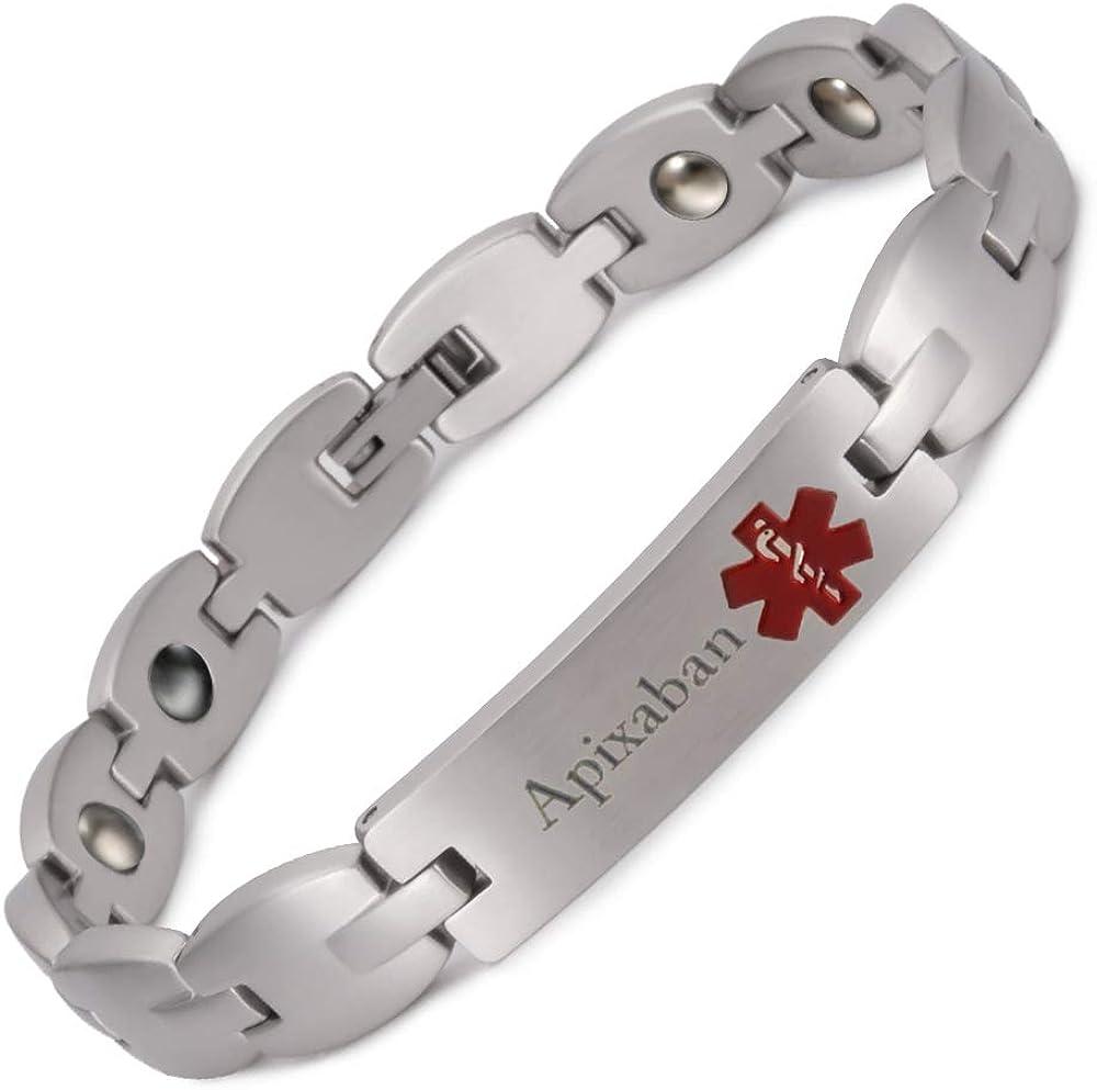 Max 56% OFF Medical Dedication Alert Bracelet for Men Unisex Pers Women Steel Stainless