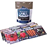 15-Pack Non-GMO Market Garden Heirloom Seed Collection - Homestead Tomato, Straightneck Squash, Contender Bush Bean, Danvers 126 Carrot, Bloomsdale Spinach, Summer Bibb Lettuce, Bell Pepper, Zucchini