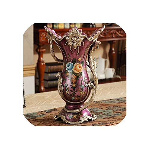 Dudifeng Vase Retro Europeen En Resine Creatif Pour Salon Decoration De Maison Decoration De Table Arrangement Floral Figurine Decorative 11