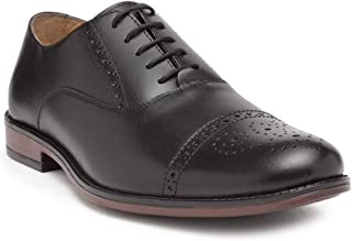 Noble CurveLeather Oxford Shoes with Brogues Detaling