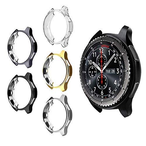 MIMEI Schutzhülle für Samsung Gear S3 Frontier SM-R760, weiche TPU-Beschichtung, stoßfest, für S3 Classic SM-R770N & Galaxy 46 mm SM-R800 Smartwatch-Zubehör, 8 X 8 X 4 cm, Siehe Abbildung