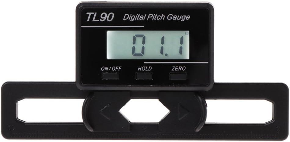 BOBEINI TL90 Medidor de Paso Digital LCD Retroiluminación Pantalla Cuchillas Herramienta de medición de ángulo
