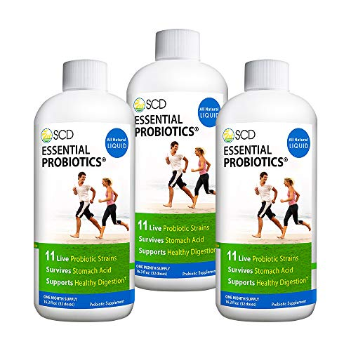 SCD Probiotics - Essential Probiotics with 11 Live Strains, Survives Stomach Acid, Promotes Regularity, Liquid Probiotic Supplement for Men, Women, Kids and Toddlers - 16.3 fl oz, 30 Day Supply (3)