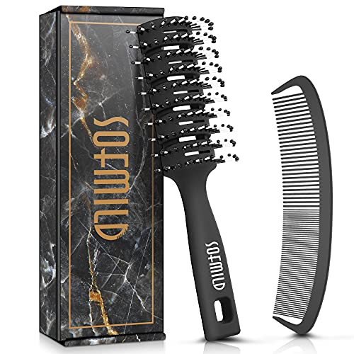 Hair Brush, Curved Vent Brush for Fast Blow Drying, 100% Bio-Friendly...