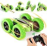 Vehículos de control remoto de coches de control remoto Stunt Racing tracción a las cuatro ruedas todo terreno para niños coche de control remoto pueden girar 360 grados,Green