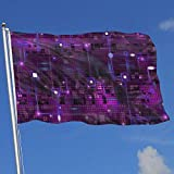 Oaqueen Banderas, Fly Breeze 3 X 5 Foot Flag Circuit Purple Blue Vivid Color and UV Fade Resistant Canvas Header and Double Stitched Bandera del jardín