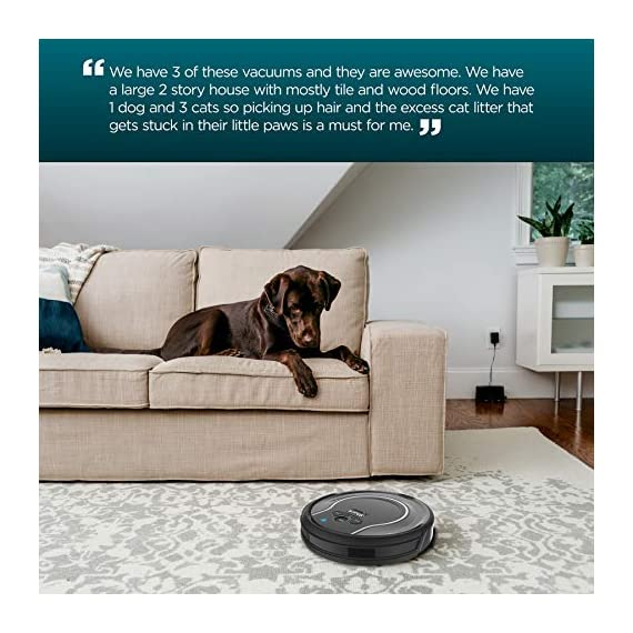 Shark ION Robot Vacuum R75 with Wi-Fi and Voice Control, 0.45 Quarts, in Smoke and Ash 3 THREE BRUSH TYPES. ONE POWERFUL CLEAN: Tri-Brush System combines side brushes, channel brushes, and a multi-surface brushroll to handle debris on all surfaces. COMPLETELY INTEGRATED IN YOUR HOME: Shark ION Robot senses ledges and stairs, avoids damaging furniture and walls, and maneuvers around potential stuck situations, truly knowing your home. CLEAN FROM YOUR PHONE: SharkClean app lets you start and stop cleaning and schedule your robot to clean whenever you want.