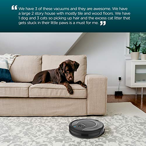 Shark ION Robot Vacuum WIFI-Connected, Voice Control Dual-Action Robotic Vacuum Carpet and Hard Floor Cleaner, Works with Alexa (RV750)