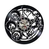 Reloj de pared con diseño de disco de vinilo del cómic Kingdom Hearts –Decora tu hogar con arte mod...