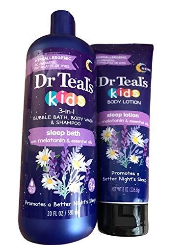 Dr Teals paquete de loción para dormir y baño para niños
