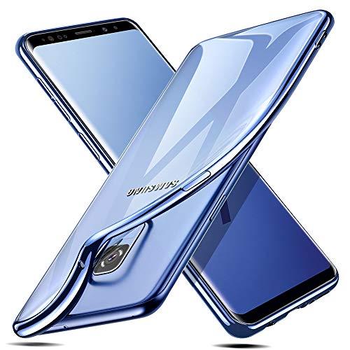 ESR Cover per Samsung Galaxy S9 [Supporta la Ricarica Wireless], Custodia Trasparente Morbida di TPU [Ultra Leggere e Chiaro] con Paraurti Placcati per Samsung Galaxy S9 (Blu).