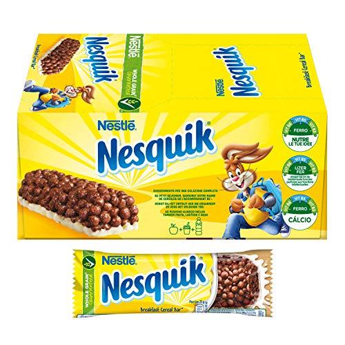 Nesquik Milk Choco Barretta di Cereali al Cioccolato e al Latte, 24 Pezzi