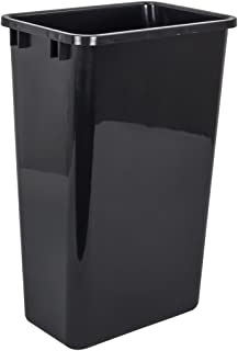 Hardware Resources CAN-50 Plastic Waste Container, Black