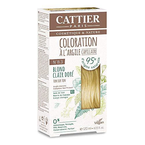 Cattier Kit Coloration Capillaire à l'Argile - N°8.3 Blond Clair Doré
