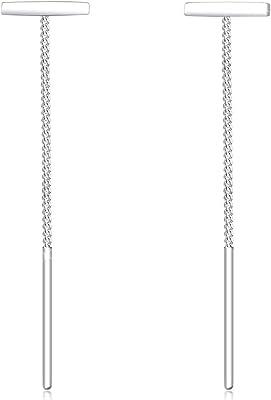 Elli Orecchini Donna Pull-Through Geo Trend in argento sterling 925